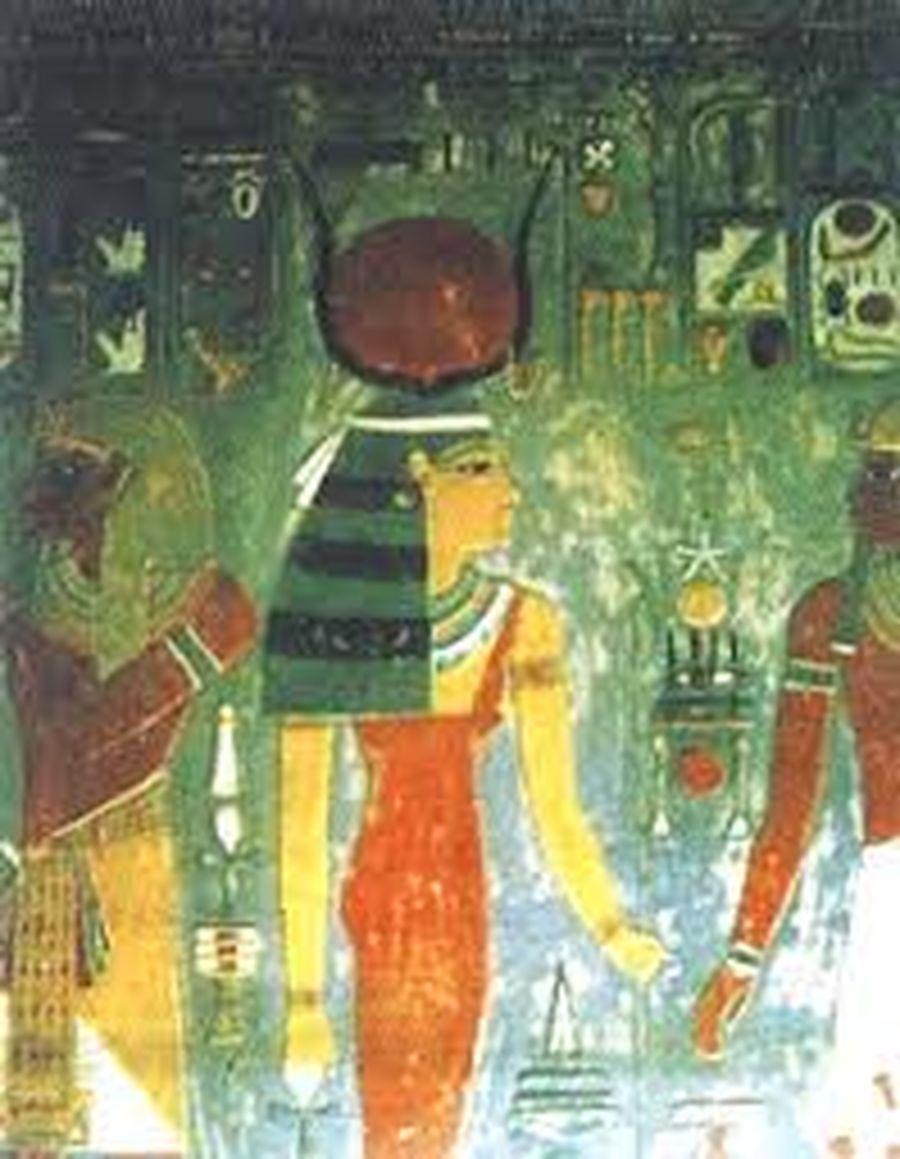 Богиня Хатхор/Роспись из храма Хоремхеба