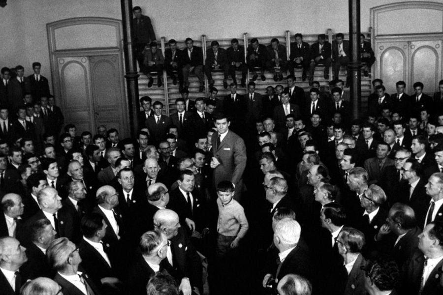 Кадр из фильма «Процесс» Орсона Уэллса, 1962